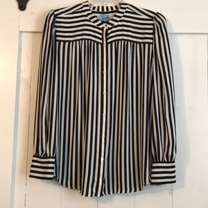Versatile Striped Blouse